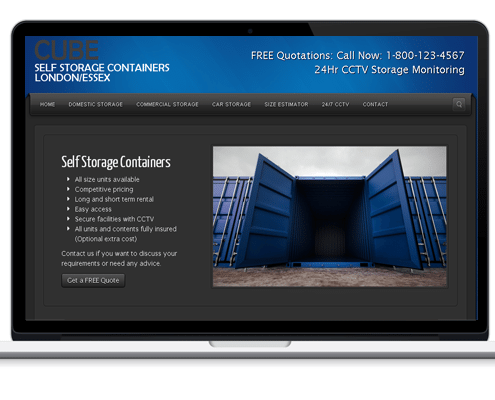 Web Design for Cube Storage Solutions
