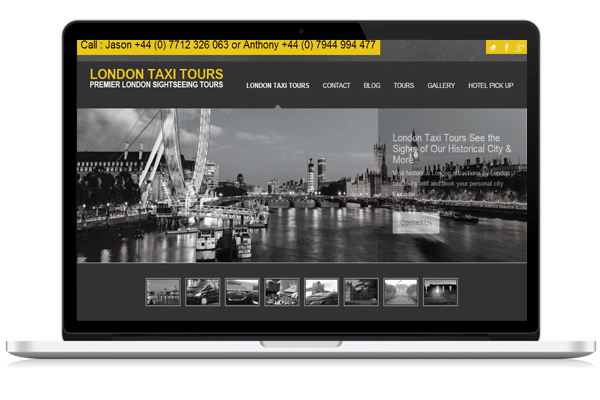 Web Design for London Taxi Tours