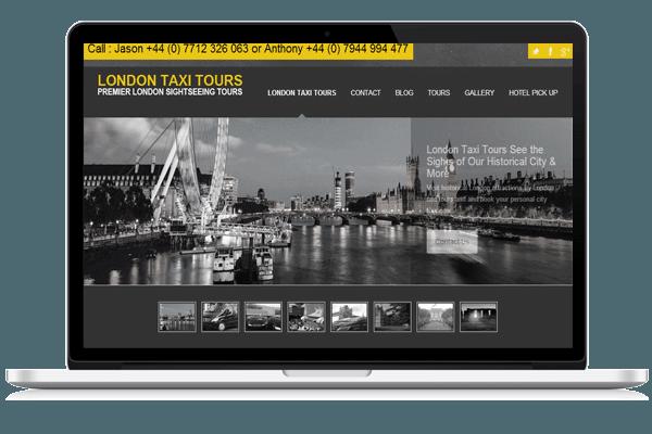 Web Design for London Taxi Tours