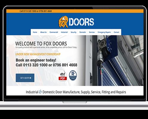 Fox Doors Web Design