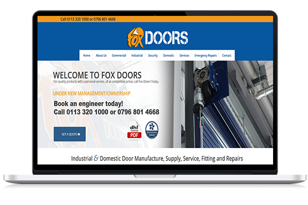 Fox Doors Web Design