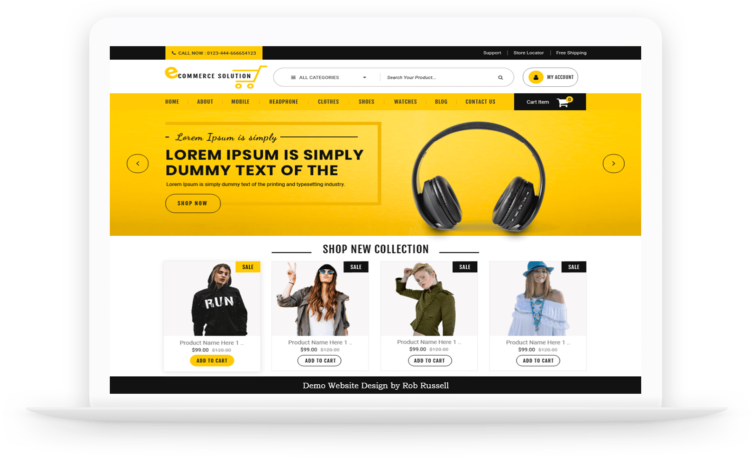 eCommerce Web Desing by Rob Russell